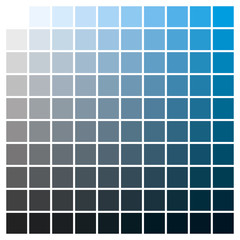 Color chart cyan black print production color guide ink catalog