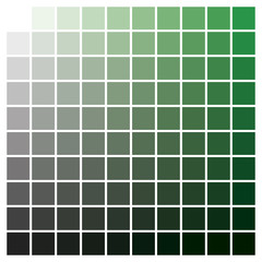 Color chart green black print production color guide ink catalog