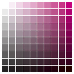 Color chart magenta black print production color guide ink catalog