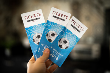 Soccer tickets for the match