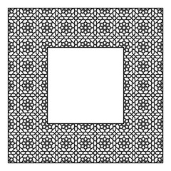Square frame of the Arabic pattern of four by four blocks