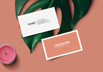 Brick Red Business Card Layout
