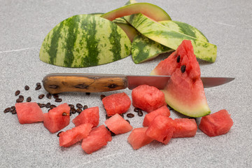 board granite knife watermelon