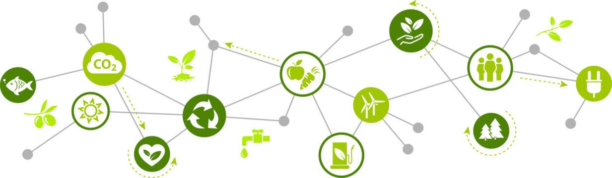 environmentally friendly technology / environmental challenges vector