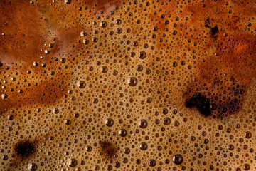 Photo sur Toile Les Textures Coffee foam texture and background