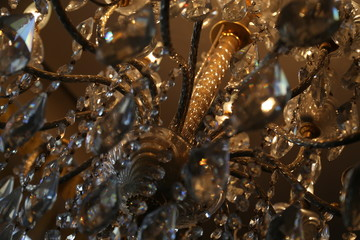 Chandelier close-up for use as background
