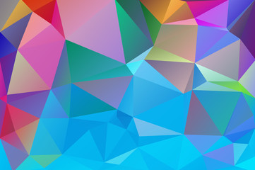Abstract multicolored polygon, low polygon background. Transfusion of color. Geometric Pattern. Blue, pink, lilac, burgundy, saturated