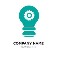 setting lamp company logo design template