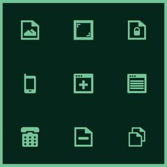 Set of 9 mockup filled icons