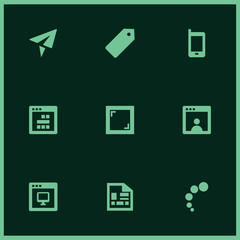 Set of 9 blank filled icons