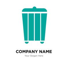 trash company logo design template