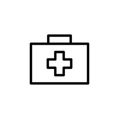 first-aid kit icon. Element of minimalistic icons for mobile concept and web apps. Thin line icon for website design and development, app development