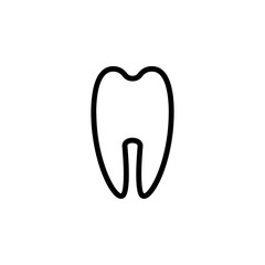 tooth icon. Element of minimalistic icons for mobile concept and web apps. Thin line icon for website design and development, app development