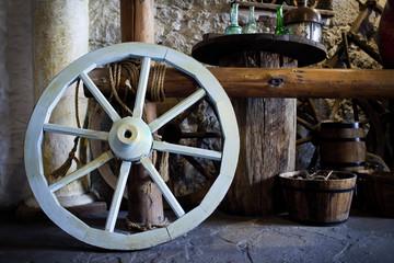 Vintage wooden wheel