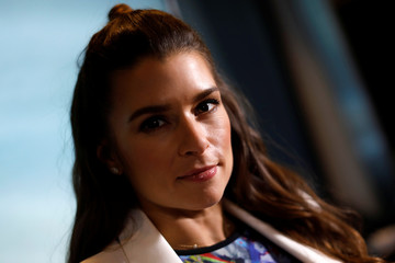Professional race car driver Danica Patrick poses for a photograph during an interview with Reuters in New York City