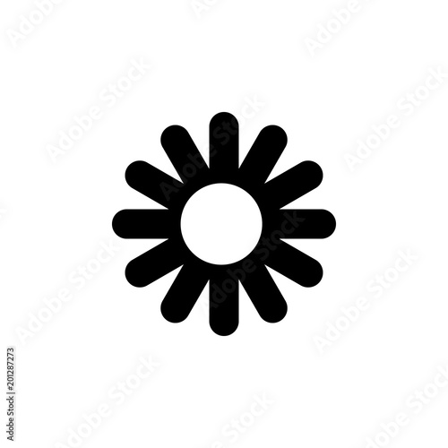 Flower Icon Element Of Minimalistic Icon For Mobile Concept And Web