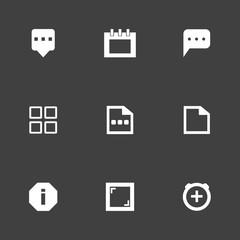 Set of 9 desk filled icons