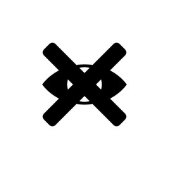 cross on the eye icon. Element of minimalistic icon for mobile concept and web apps. Signs and symbols collection icon for websites, web design, mobile app