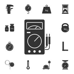 voltmeter icon. Simple element illustration. voltmeter symbol design from Measuring collection set. Can be used in web and mobile