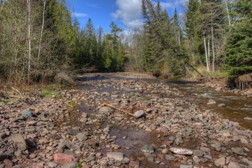 This Stream flows past Betty's Pies by Two Harbors Minnesota near Lake Superior