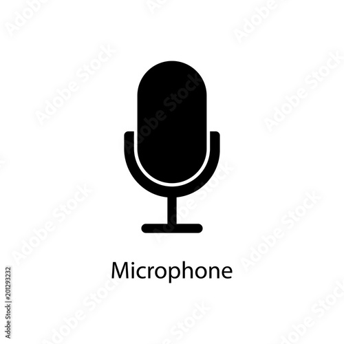 Microphone Icon Element Of Minimalistic Icon For Mobile Concept And