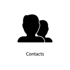 contacts icon. Element of minimalistic icon for mobile concept and web apps. Signs and symbols collection icon for websites, web design, mobile app