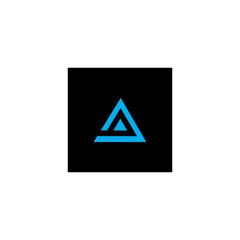 letter q in a triangle logo vector