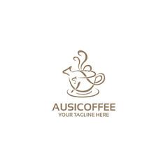 australian coffee logo template
