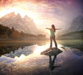 Praise at morning sunrise