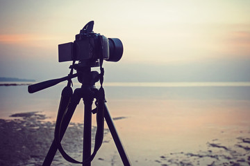 Photographing a seascape