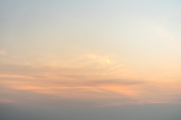 Beautiful blue the sky during dawn Wall mural