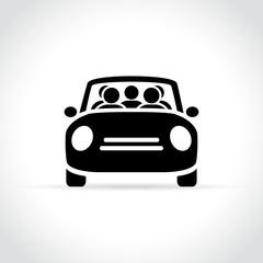 carpooling icon on white background