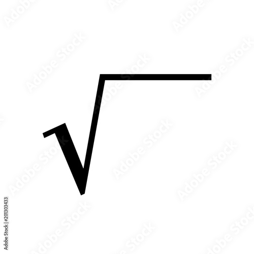 Math Symbols Vector And Math Icons Square Root Symbol Stock Image