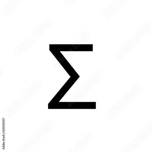 Math Symbols Vector And Math Icons Sigma Symbol Stock Image And