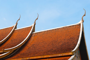 Wall Mural - The roof of Sirinthornphuprow temple in Ubon Ratchathani, Thailand.