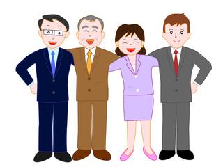 ビジネスマンのチームワーク