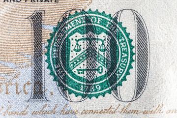100dollar bill , logo