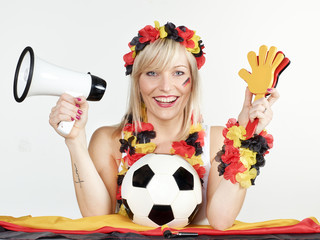 Girly soccer fan
