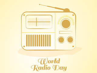 nice and beautiful abstract or poster for World Radio Day with nice and creative design illustration