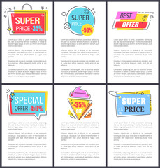 Special Offer and Super Price Vector Illustration