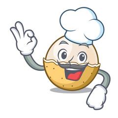 Chef longan fruit character cartoon
