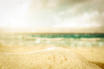 summer beach background and free space for your decoration.