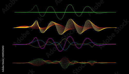 vector of frequency audio music equalizer digital  digital music