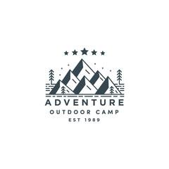 Adventure badge vector logo icon illustration