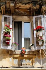 Fenster in Korfu Stadt