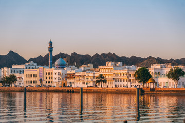 Wall Murals Middle East Sunrise in Muscat in Oman