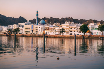Acrylic Prints Middle East Sunrise in Muscat in Oman