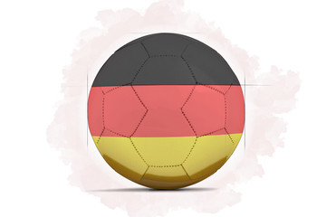 Digital Artwork sketch of a Soccer ball with team flag.  Germany, Europe