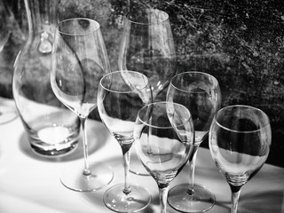 Wine glasses for wine and drinks