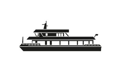 Ferry boat silhouette